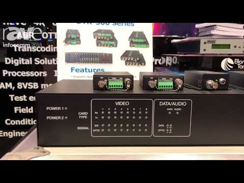 InfoComm 2018: Toner Cable Equipment Shows Opticonn OTR-300 Series for 3G-SDI Over Fiber