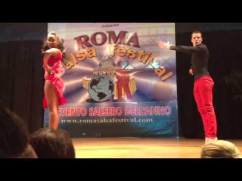 Bernardo de la Vega e Rebekah Letch al Roma Salsa Festival 2012
