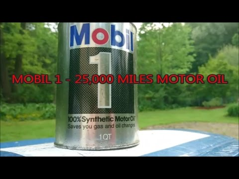 Mobil 1 25 000 miles motor oil true 100 synthetic for What is synthetic motor oil made out of