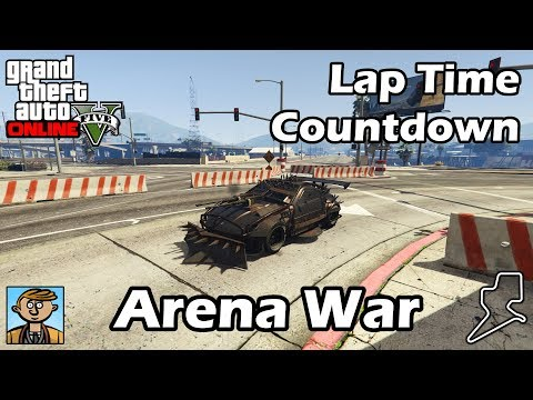 Fastest Arena War Vehicles - GTA 5 Best Fully Upgraded Cars Lap Time Countdown
