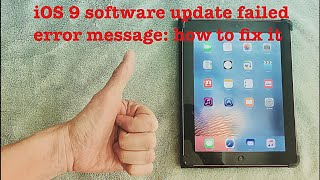 How to FIX iPad 3 Restore Error