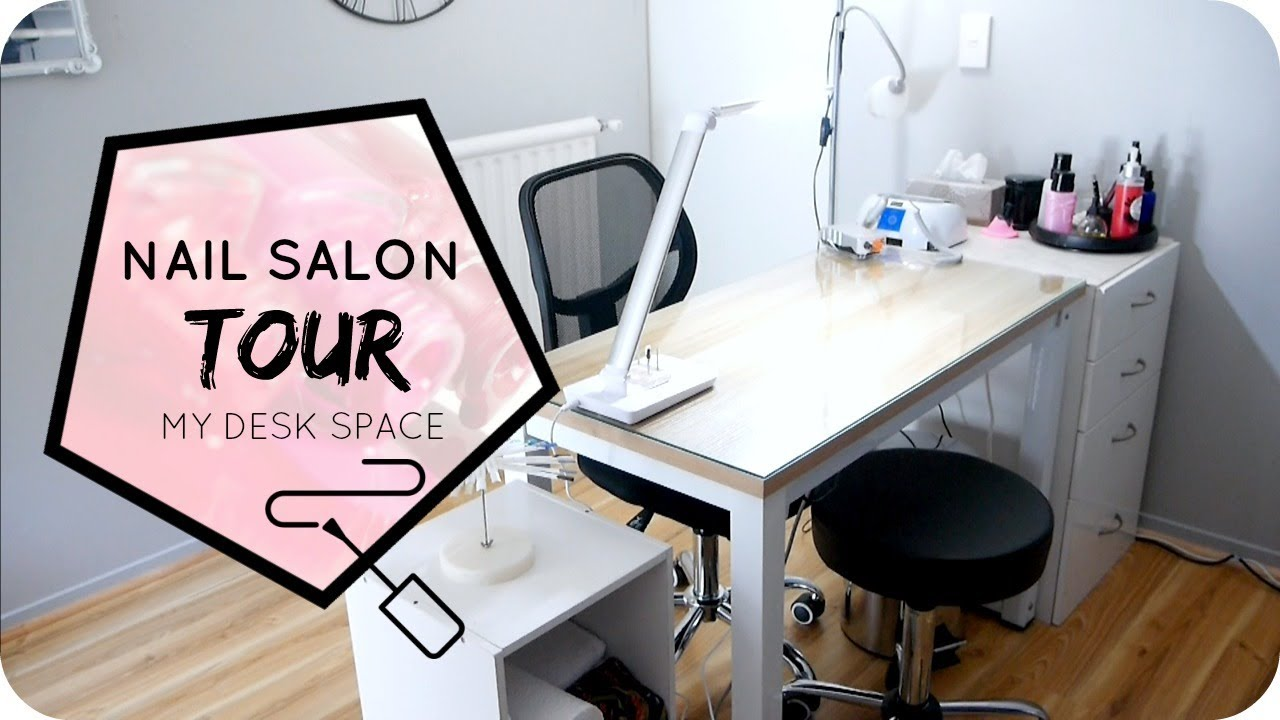 NAIL SALON TOUR - YouTube