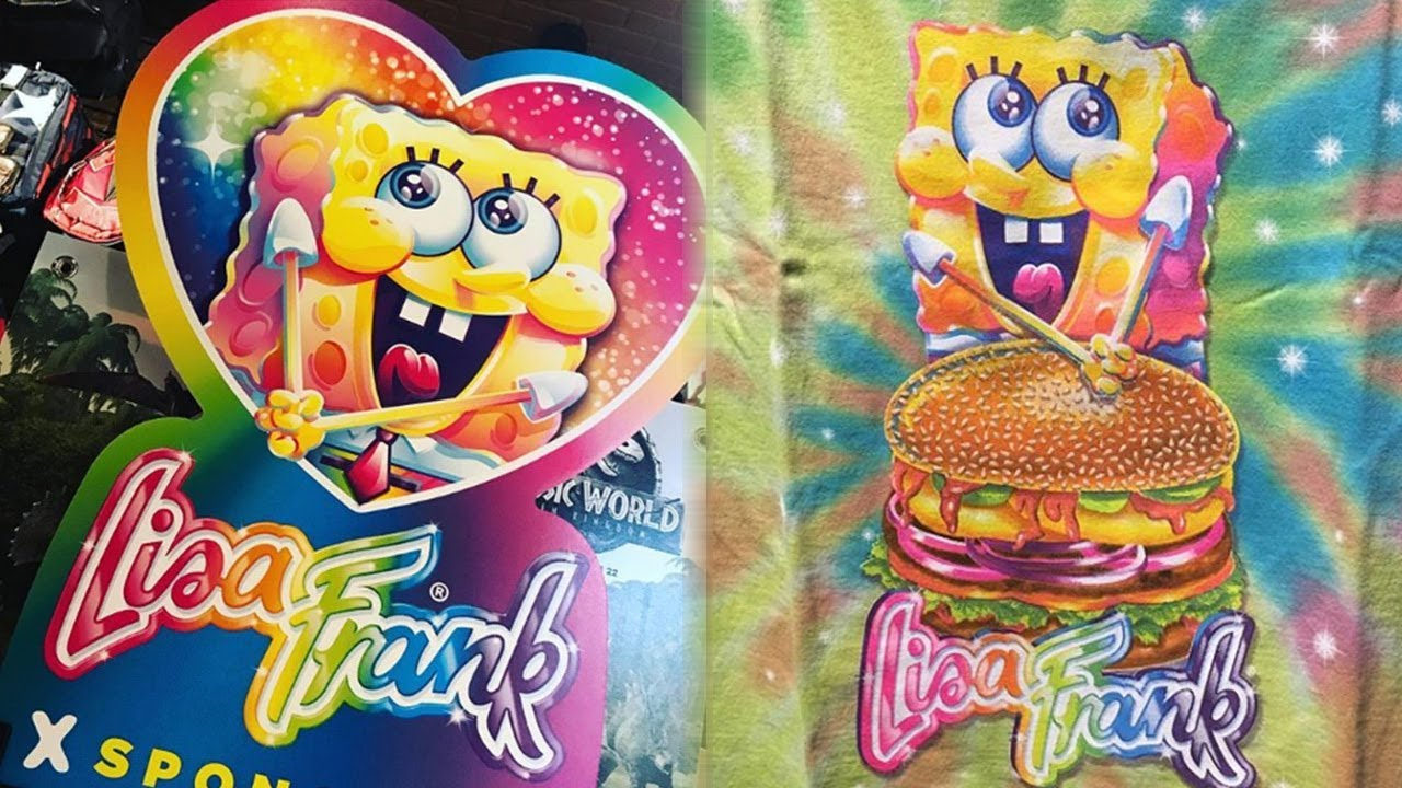 Lisa Frank Spongebob Squarepants TEAM UP For A TBT Merch Line