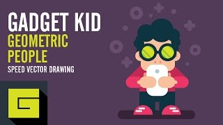 Speed Drawing, How to draw Gadget Kid, Adobe Illustrator