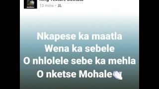 Oleseng Shuping- Kena le modisa, Scriptures by Thapelo Rathobotha.