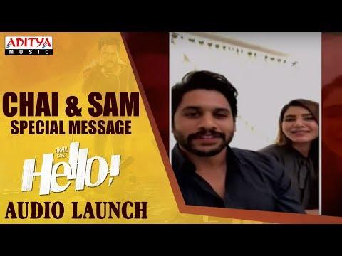 Naga Chaitanya & Samantha Special Message To HELLO! Movie Team