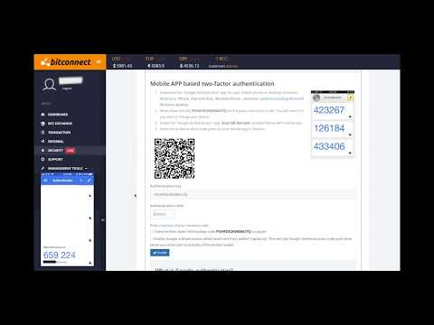 How to enable 2FA in bitconnect