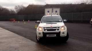 B + E driving test - Car with trailer reversing exercise.