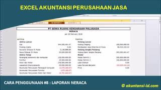 Excel Akuntansi Perusahaan Jasa 8 Pembuatan Laporan Laba Rugi Youtube
