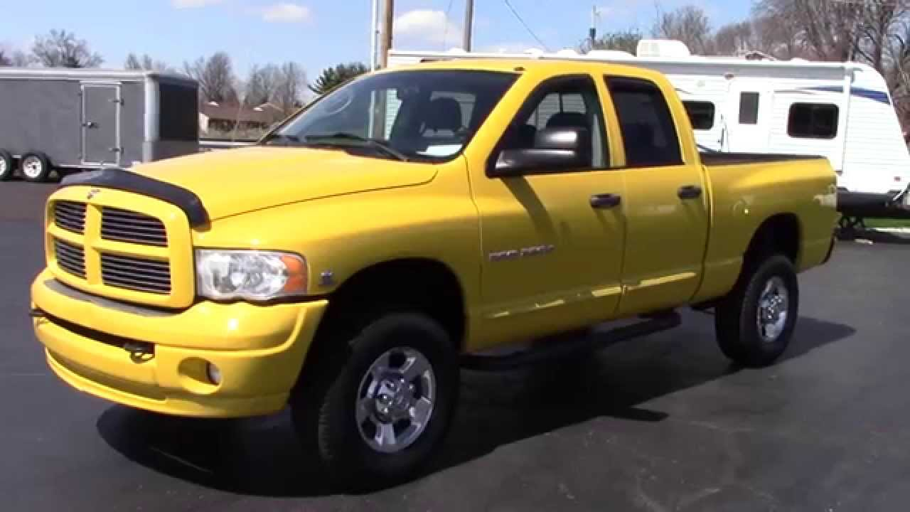 sold 2005 dodge ram 2500 laramie rare yellow color 5 9l cummins sold youtube. Black Bedroom Furniture Sets. Home Design Ideas