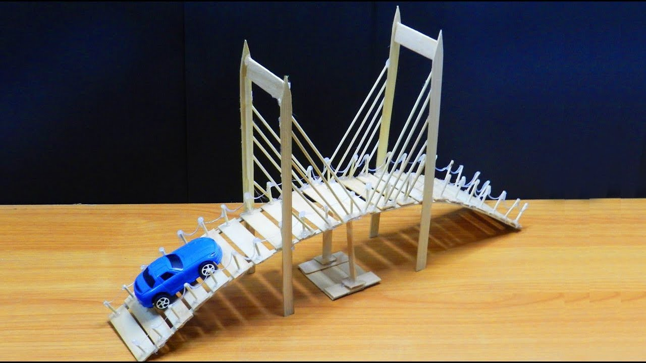 Popsicle Stick Bridge Miniature Tree House Easy Craft Ideas