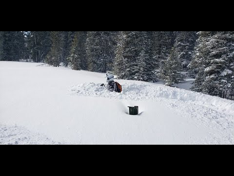 March 2019 Bighorn Mountains, Snowmobiling After Spring Storm,