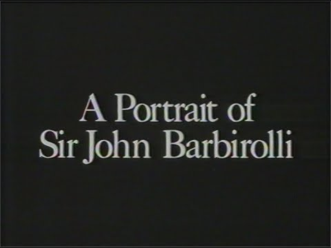 """J.B. A Portrait of Sir John Barbirolli"" (1965 programme/1992 repeat)"