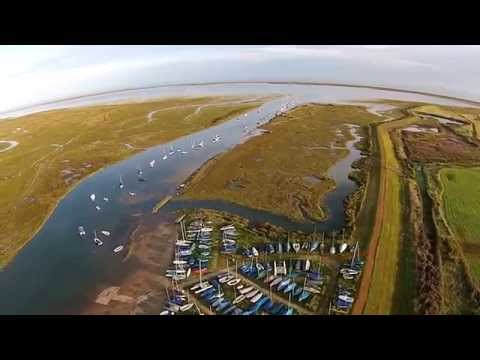 North Norfolk Coast from above
