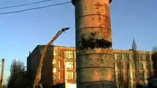 видео Демонтаж дымовых труб - виды труб и технологии демонтажа