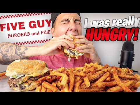 DELICIOUS Five Guys Feast (Mukbang)