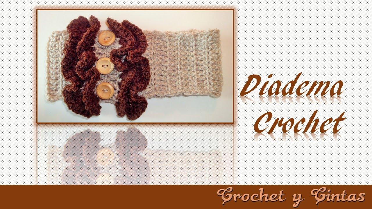 Diadema vincha fruncida tejida a crochet youtube - Diademas a crochet ...