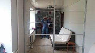 Как встроить шкаф купе в нишу с кривыми стенами своими руками: фото, видео