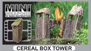 Cereal Box Tower // Mini Weapons Of Mass Destruction // How To Build Homemade Weapon Target