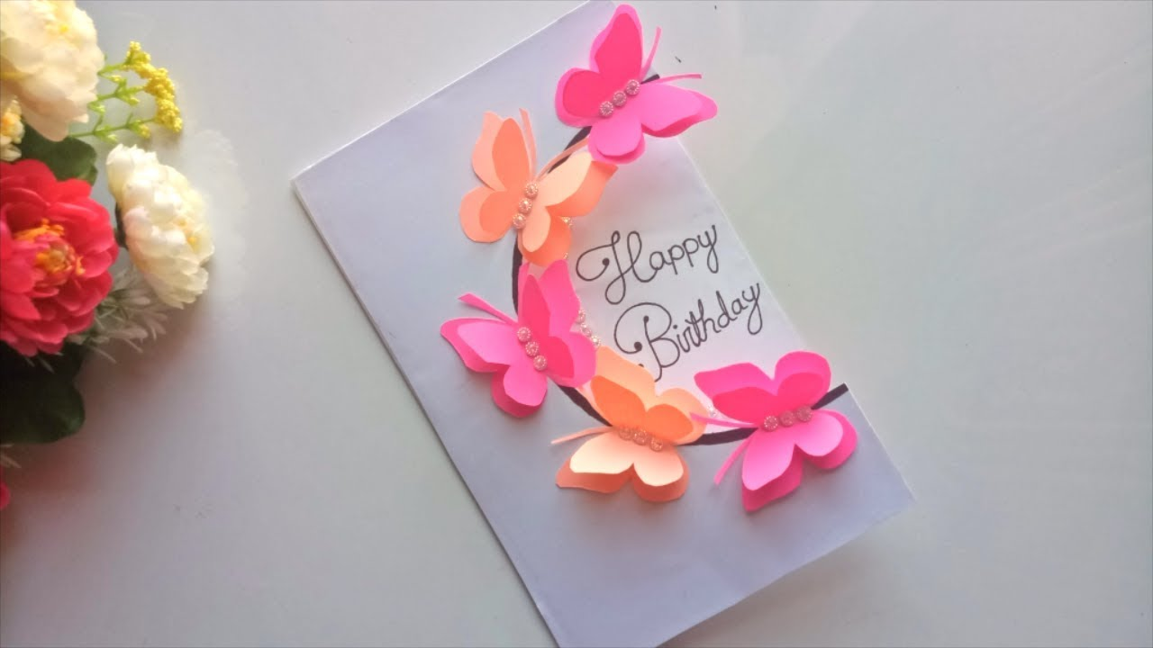 Beautiful Handmade Birthday Card Idea Diy Greeting Pop Up Cards For Birthday