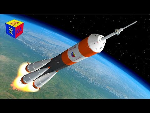 Rocket ship launch - construction game cartoon for children about space