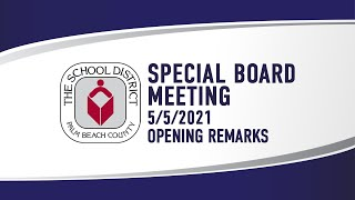 5.5.21 Special Meeting (Opening Remarks)