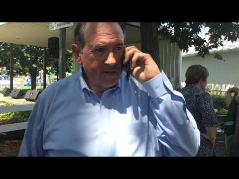 2016 Presidential Candidate Mike Huckabee calls my wife to wish her happy birthday