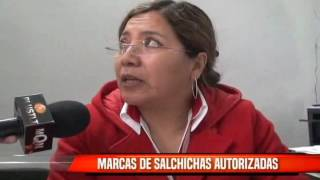 MARCAS DE SALCHICHAS AUTORIZADAS PARA SU VENTA