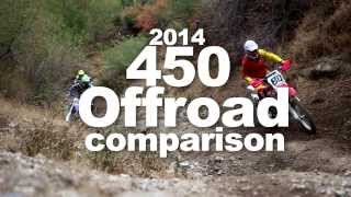 Dirtbike Magazine's 2014 450 Offroad Comparison