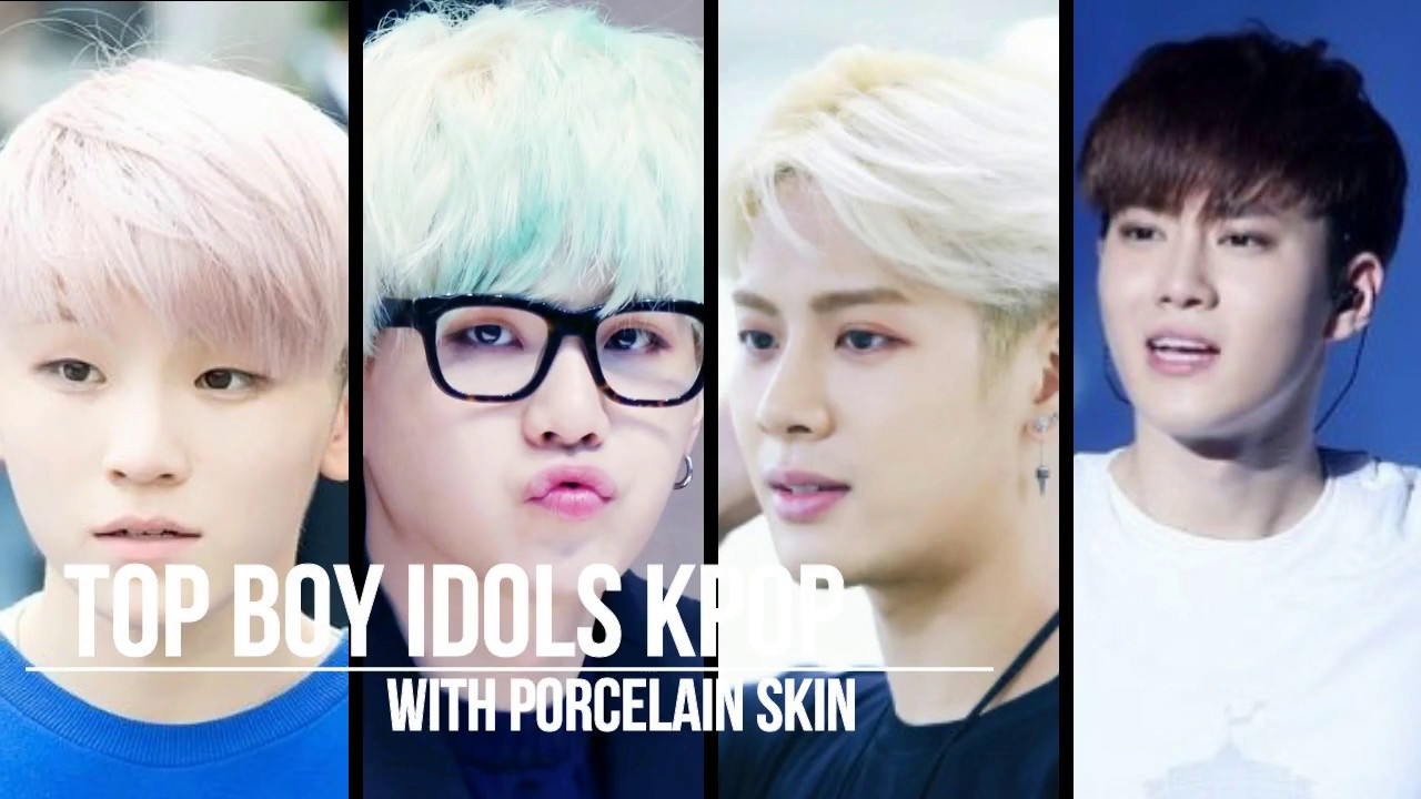 10 boy idols kpop with porcelain skin youtube