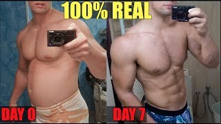 HOW TO LOSE BELLY FAT in 1 WEEK   My Body TRANSFORMATION