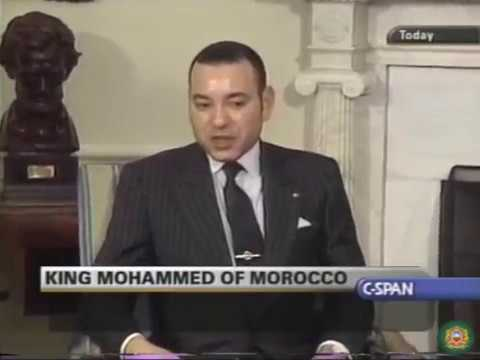 Young King Mohammed VI and George W. Bush | Remarks US-Morocco Trade & Cooperation