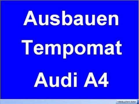 Tempomat Ausbauen Audi A4 A6 A8 4d0907305 4do907305