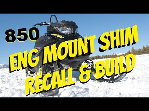 2017 Ski Doo 850 Summit recall Rev-Gen 4 eng shim PTO & in process build  The Dude too :)