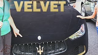 VELVET Maserati Ghibli drawing a Crowd in Monaco