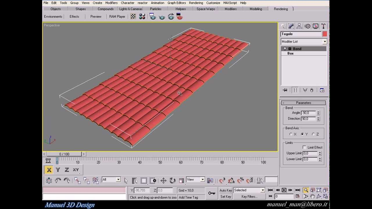 Create Roof Tiles In 3ds Max Youtube