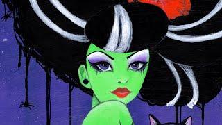 Bride of Frankenstein Rockabilly Monster Girl Speed Paint Demo by Leilani Joy