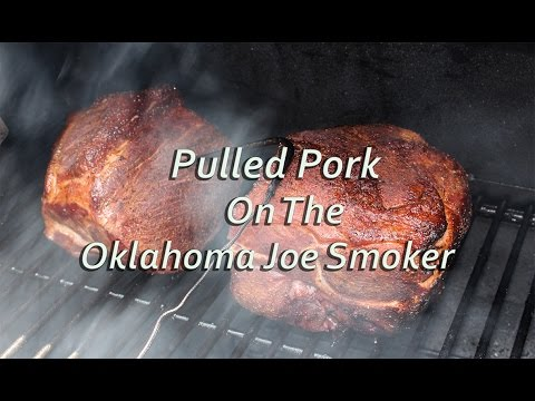 Pulled Pork on the Oklahoma Joe