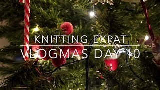 Our First Christmas Party - Vlogmas Day 10 - Knitting Expat