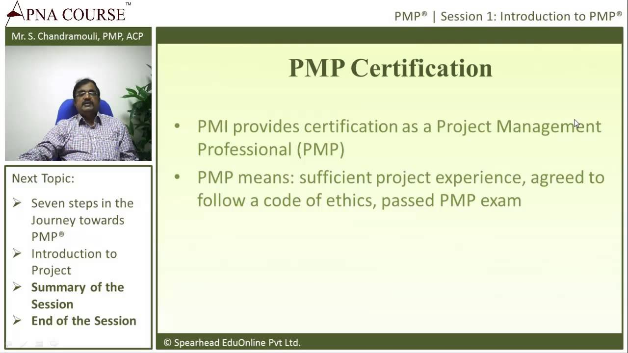 Project Management Professional All About Pmp Certification Youtube
