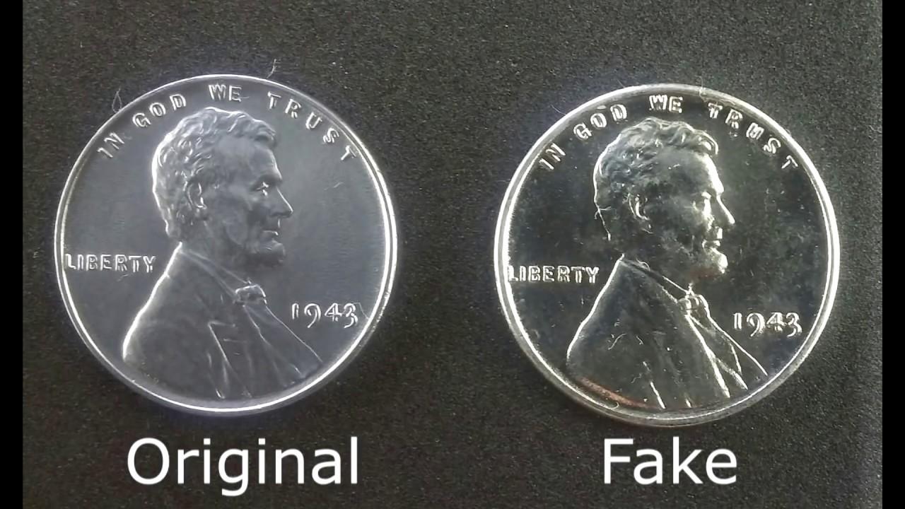 Steel Penny, 1943 fake ( Original vs Fake )
