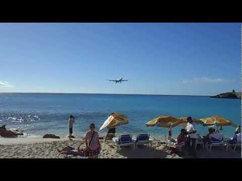 Maho Beach - Princess Juliana Airport - St. Maarten.AVI
