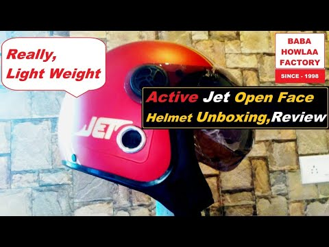 Active JET Open Face Helmet (RED MATTE) Unboxing & User Review | Un-packing New Helmets & Top Review