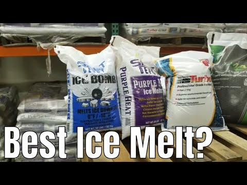 What's The Best Ice Melt?  DIY How To Choose Ice Melt.  Calcium Chloride Vs Magnesium Chloride