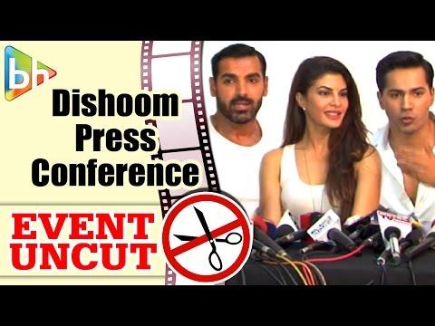 Varun Dhawan   John Abraham   Jacqueline Fernandez During 'Dishoom' Press Conference