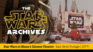 STAR WARS at Mann's Chinese Theatre  - Very Rare News Footage (1977)