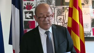 """France FM Le Drian on Barcelona Attack: """"28 French people were injured, 8 in serious condition"""""""
