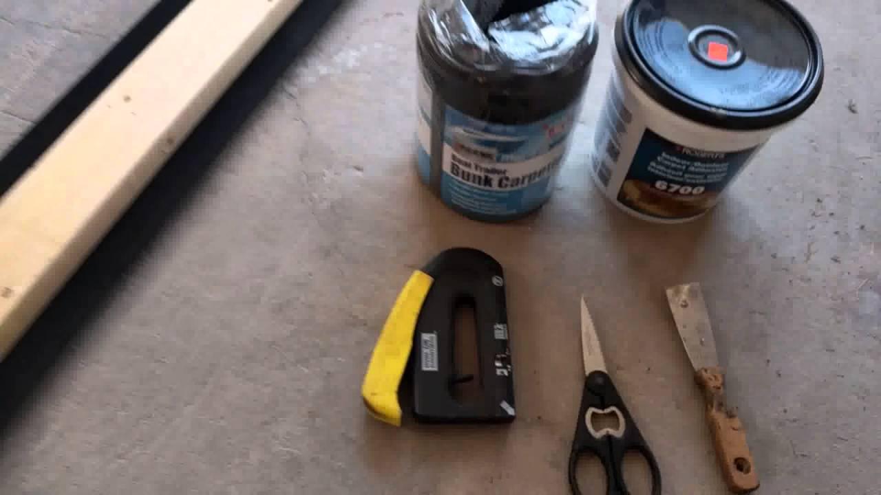 Replacing Boat Trailer Bunk And Carpet Aluminum Boat