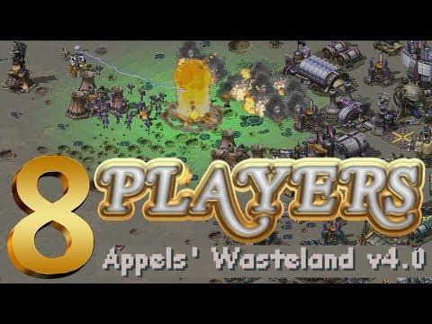 8 Players Red Alert 2 - Yuri's Revenge Appels' Wasteland v4.0 Map 4 vs 4