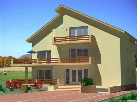 Casa is 04 proiect casa cu subsol etaj si mansarda youtube for Case cu etaj